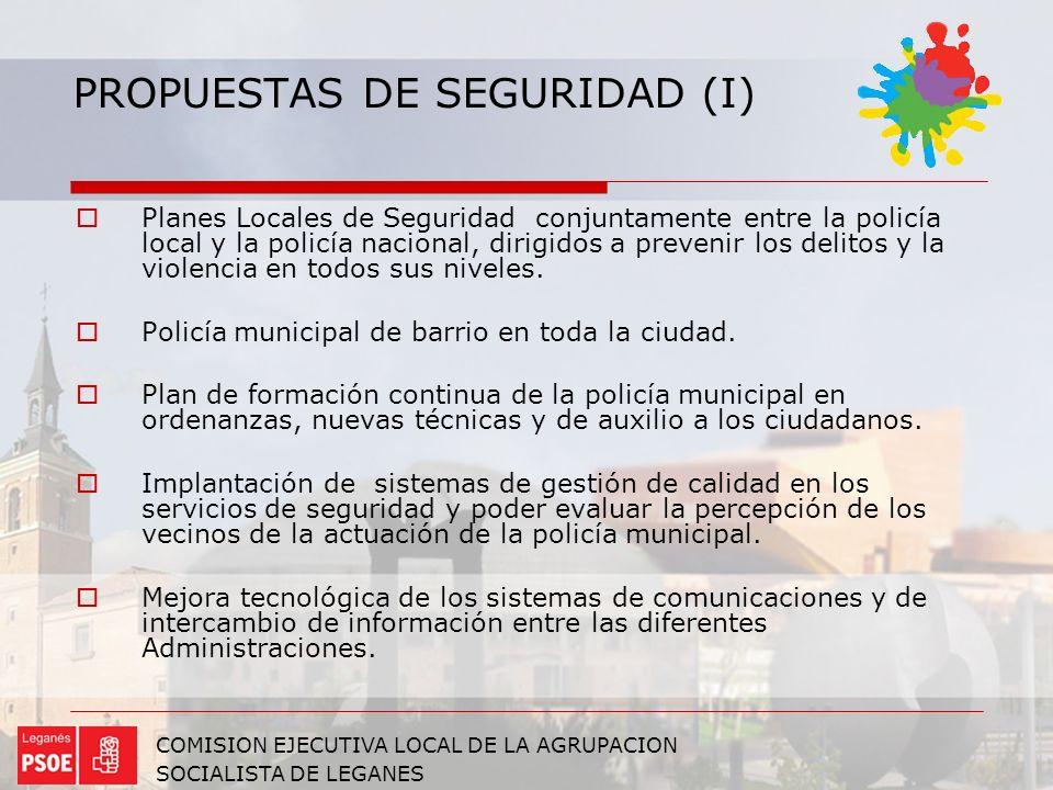 PROPUESTAS DE SEGURIDAD (I)