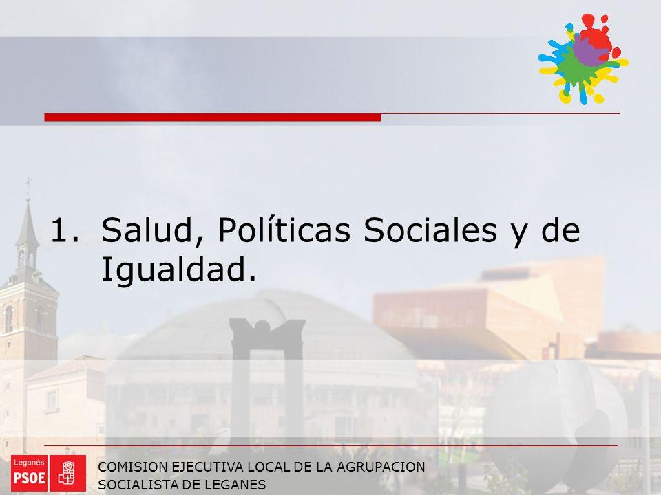 Salud, Políticas Sociales y de Igualdad.
