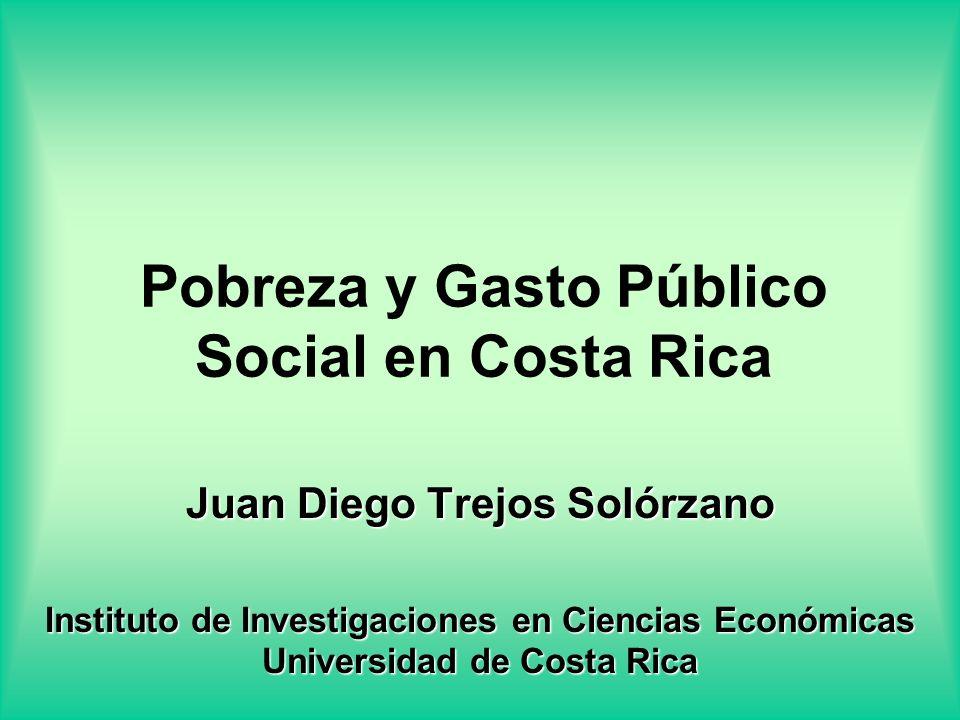 Pobreza y Gasto Público Social en Costa Rica