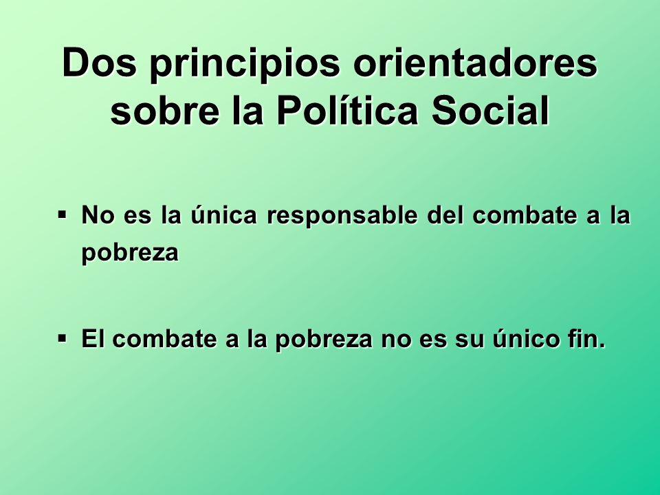 Dos principios orientadores sobre la Política Social