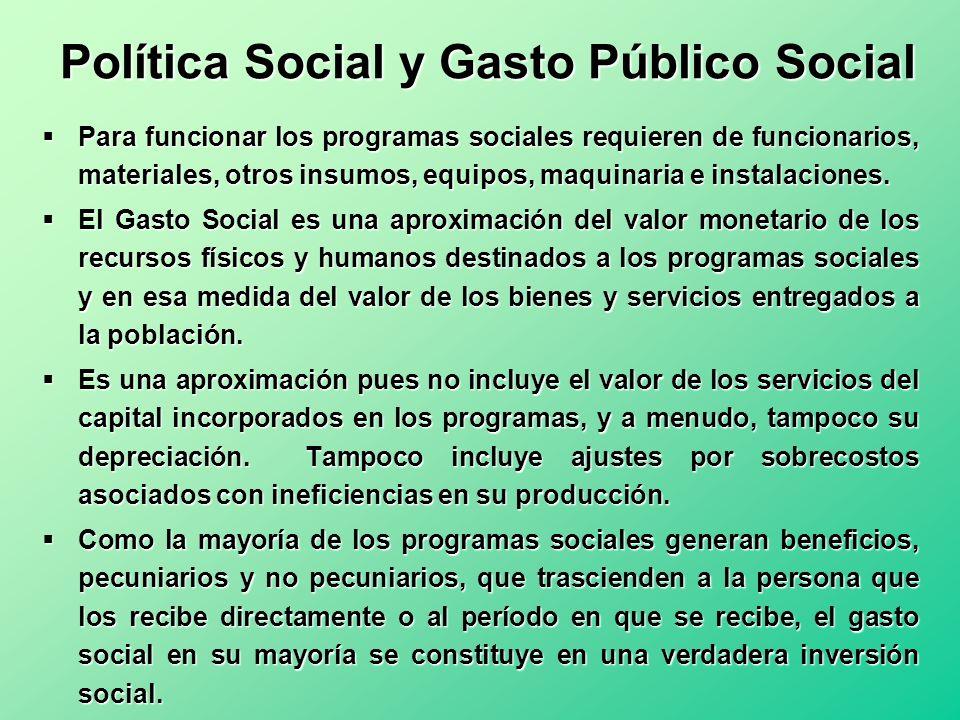 Política Social y Gasto Público Social