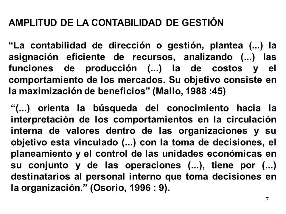 AMPLITUD DE LA CONTABILIDAD DE GESTIÓN