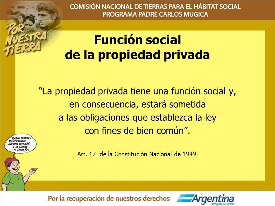 Función social de la propiedad privada
