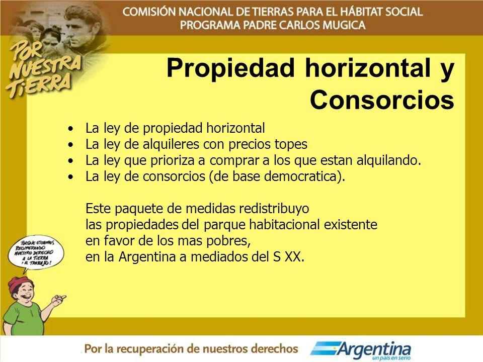 Propiedad horizontal y Consorcios