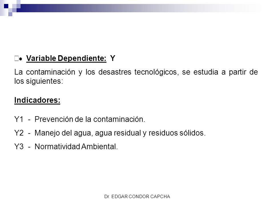 · Variable Dependiente: Y