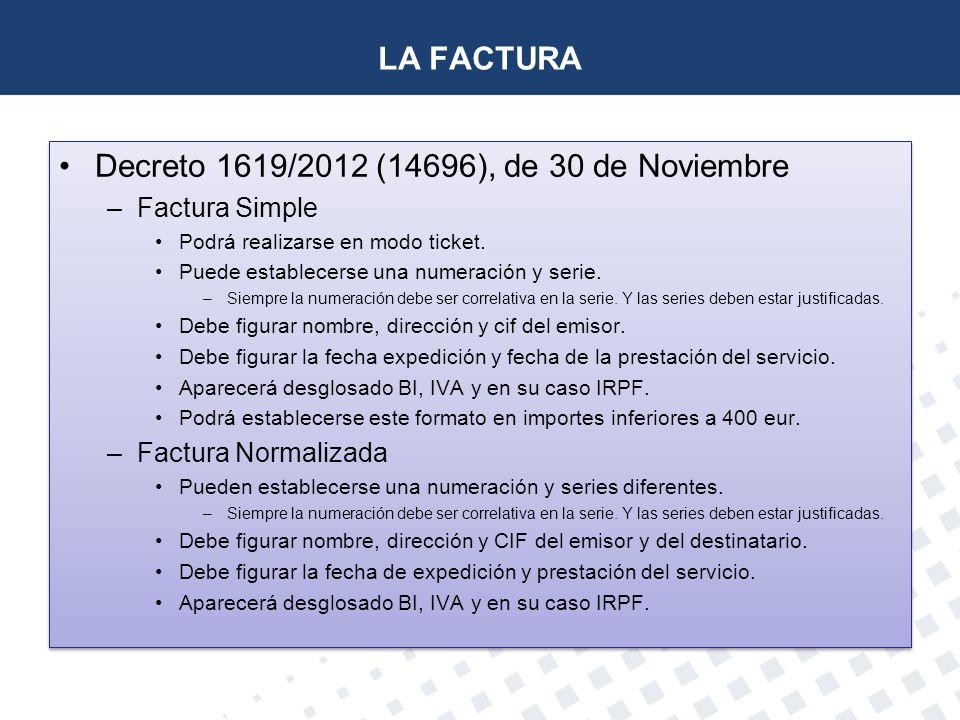 Decreto 1619/2012 (14696), de 30 de Noviembre