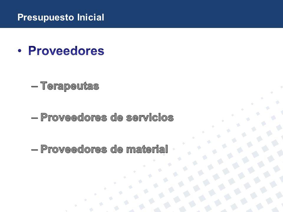 Proveedores Terapeutas Proveedores de servicios