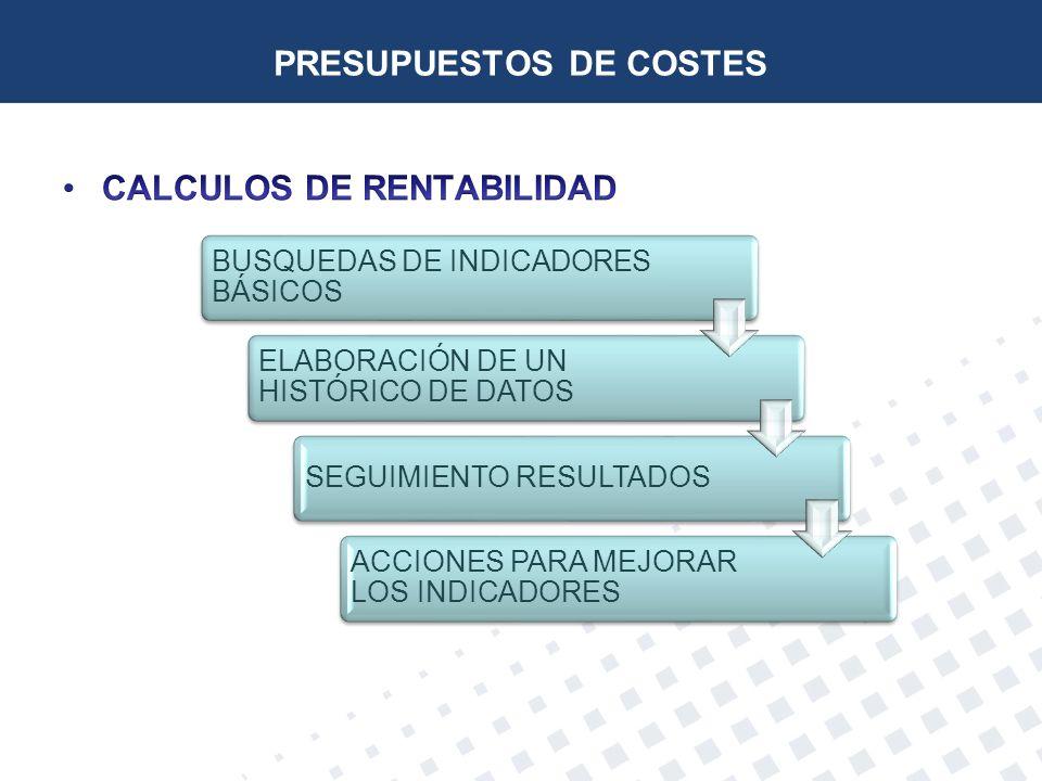 PRESUPUESTOS DE COSTES