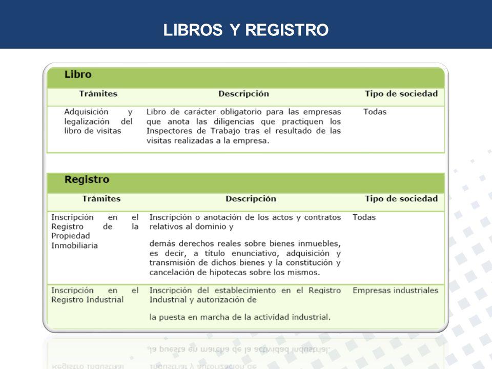 LIBROS Y REGISTRO