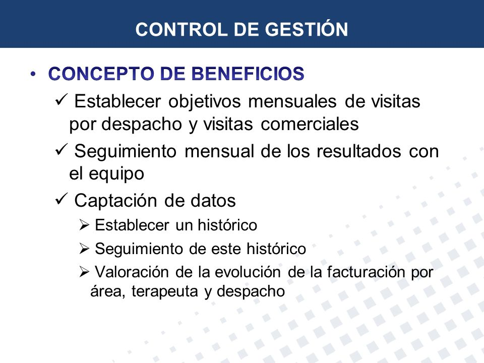 CONCEPTO DE BENEFICIOS