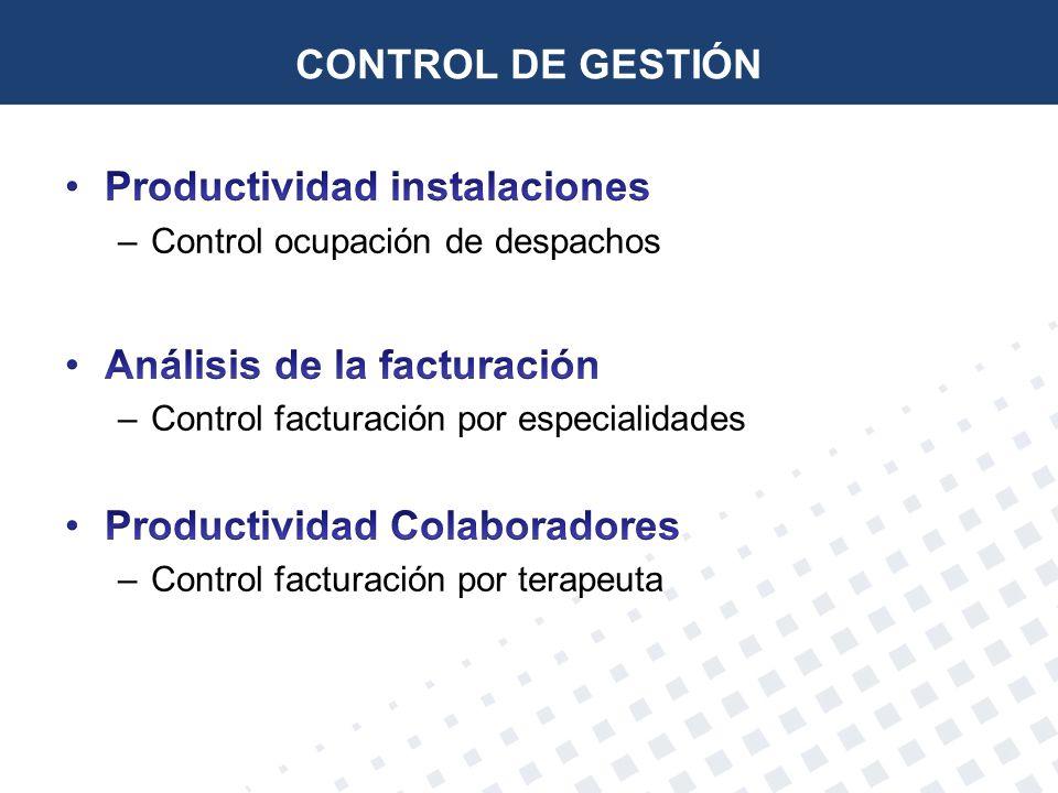 Productividad instalaciones