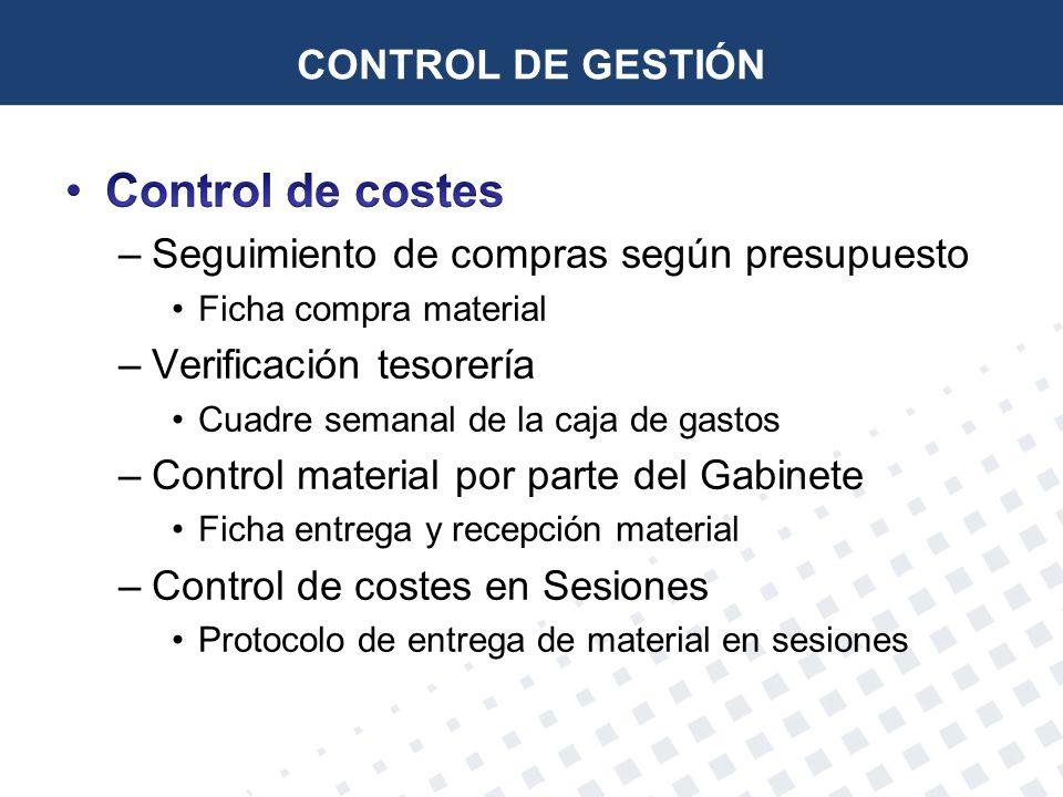 Control de costes CONTROL DE GESTIÓN
