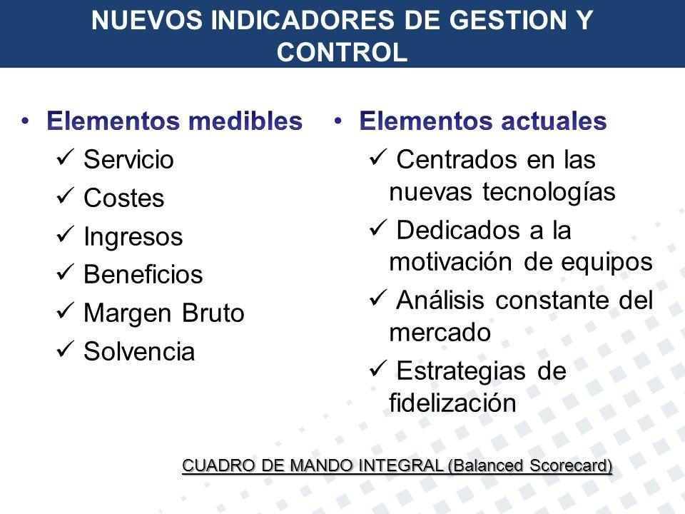 NUEVOS INDICADORES DE GESTION Y CONTROL