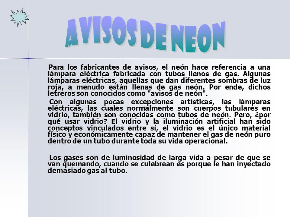 avisos de neon
