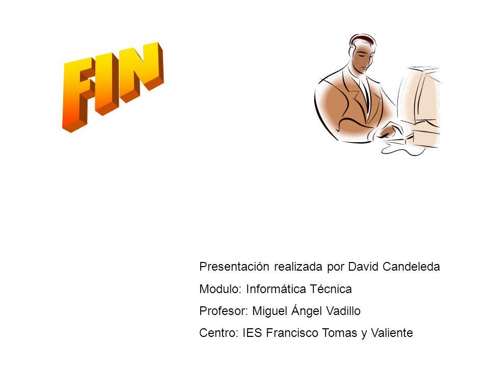 FIN Presentación realizada por David Candeleda