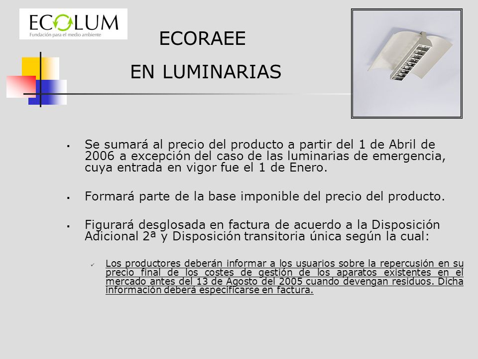 ECORAEE EN LUMINARIAS.