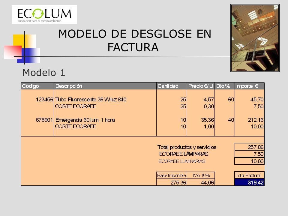 MODELO DE DESGLOSE EN FACTURA
