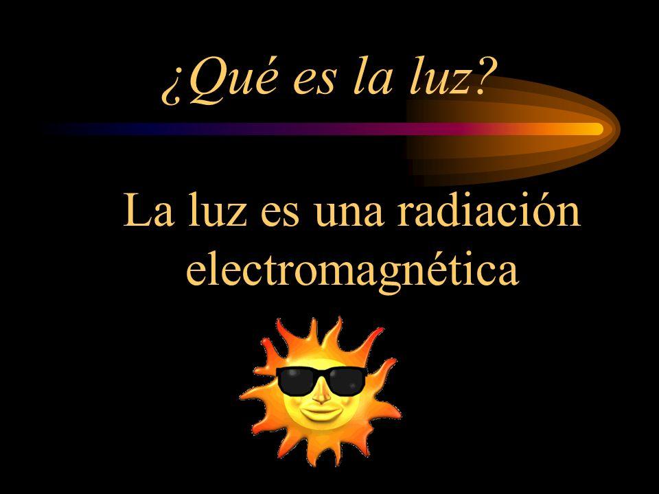 La luz es una radiación electromagnética