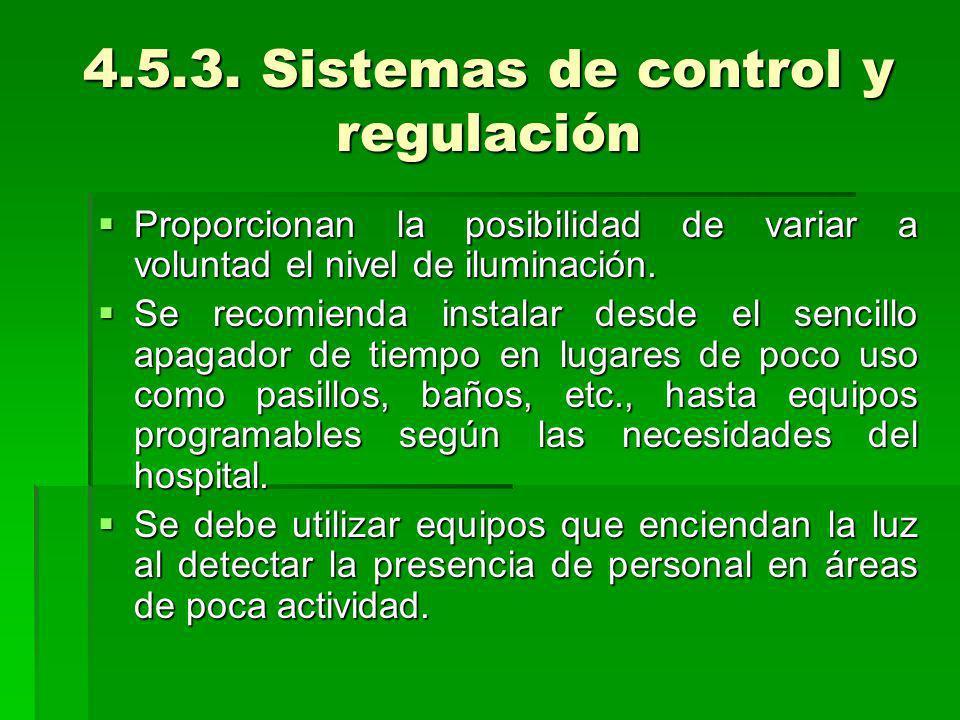 4.5.3. Sistemas de control y regulación