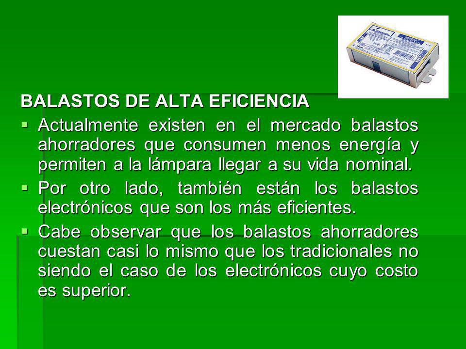 BALASTOS DE ALTA EFICIENCIA