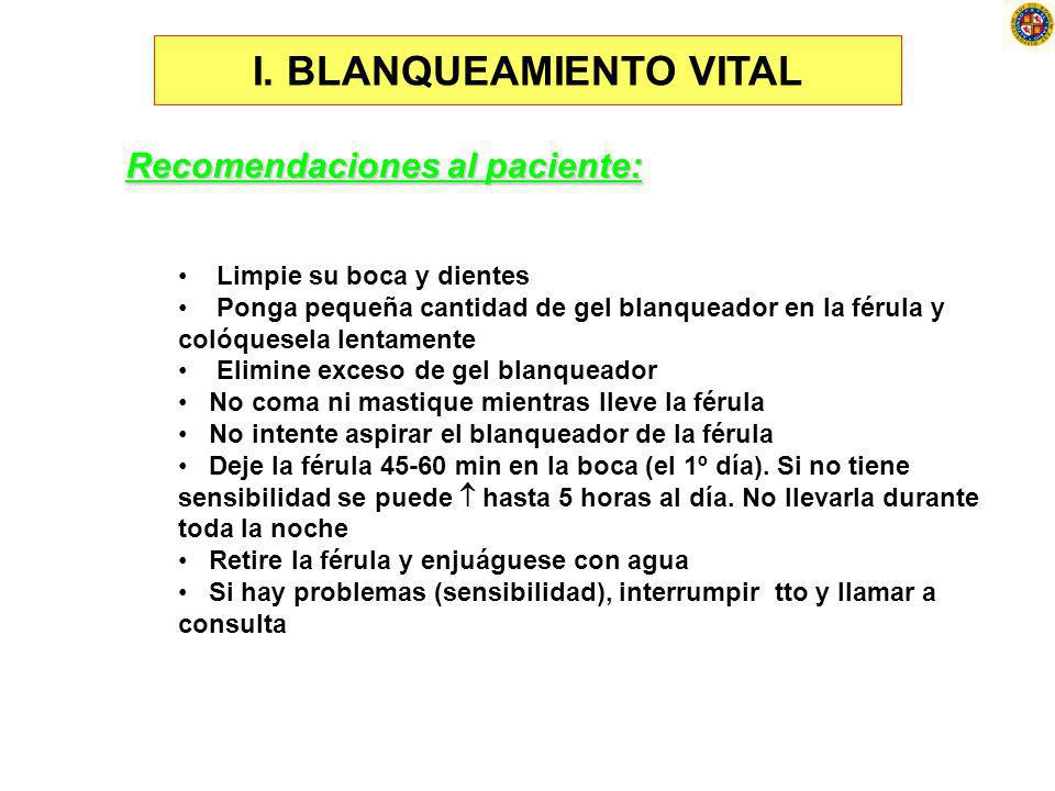 I. BLANQUEAMIENTO VITAL