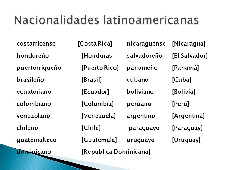Nacionalidades latinoamericanas