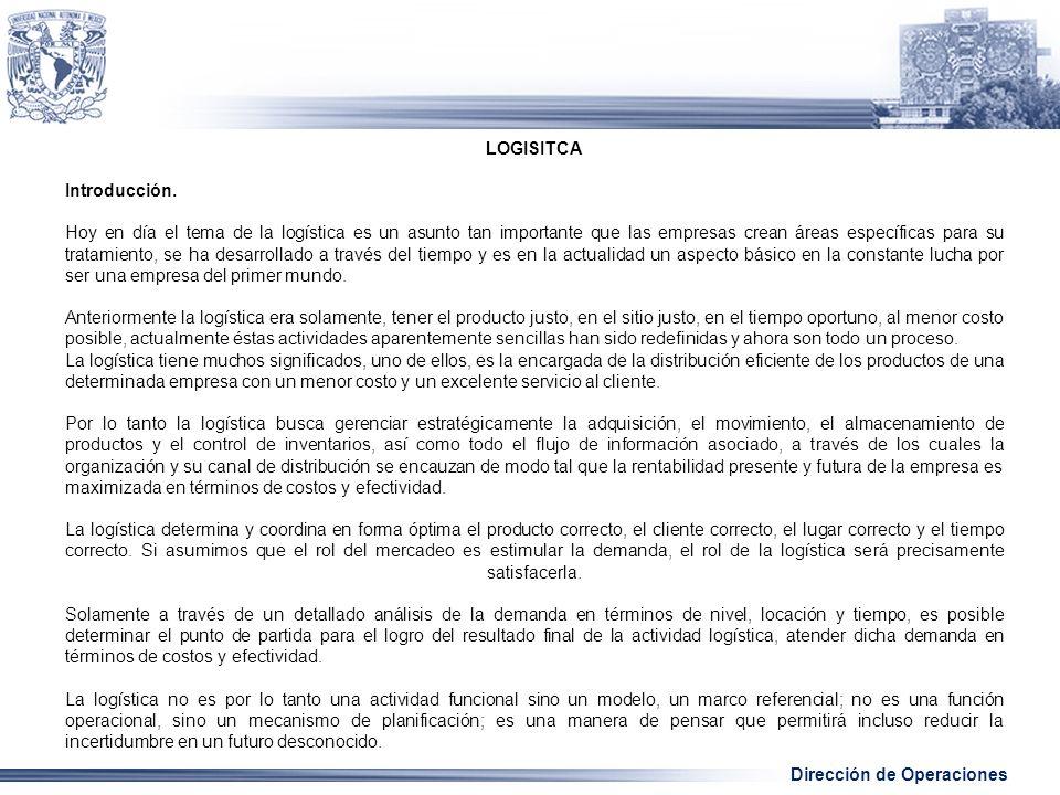 LOGISITCA Introducción.