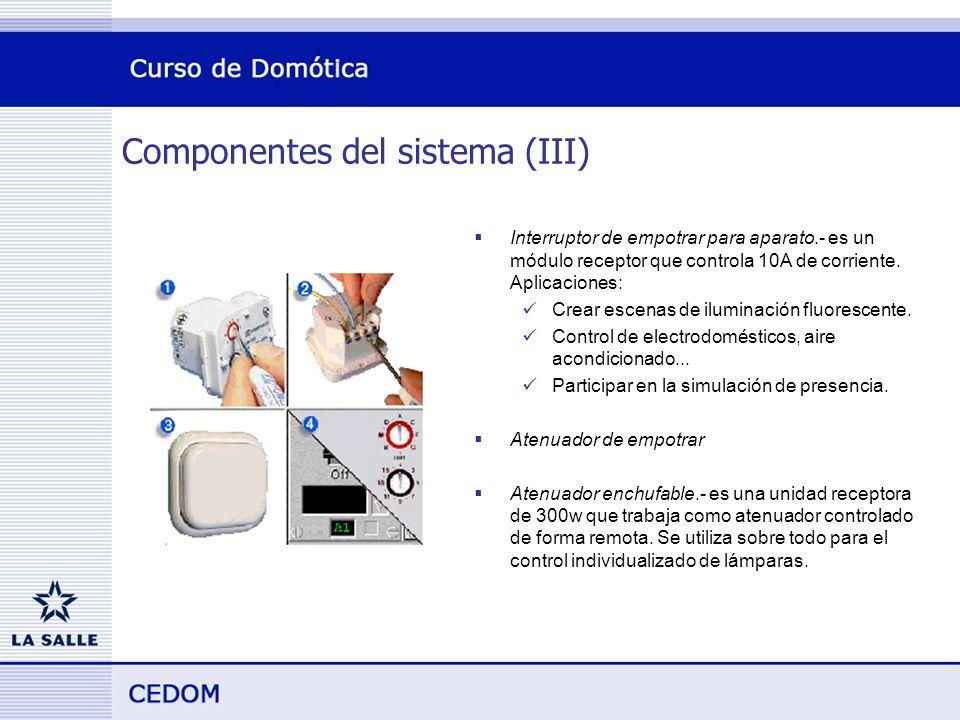 Componentes del sistema (III)