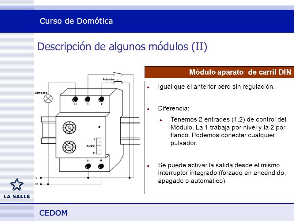 Descripción de algunos módulos (II)