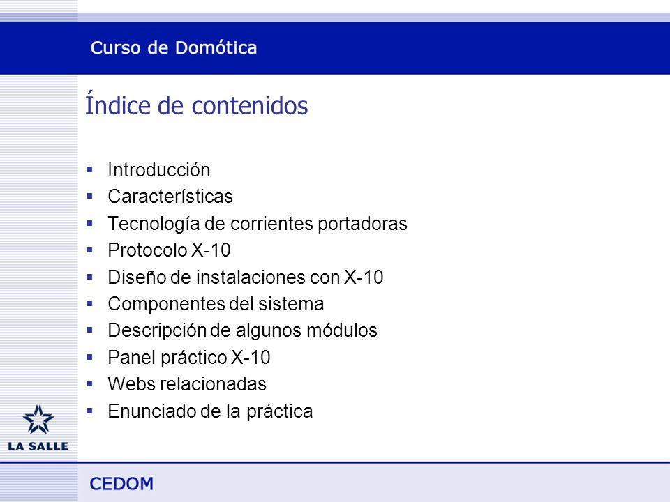 Índice de contenidos Introducción Características