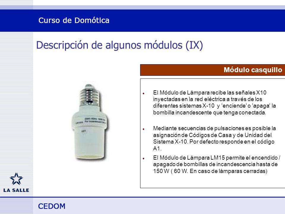 Descripción de algunos módulos (IX)