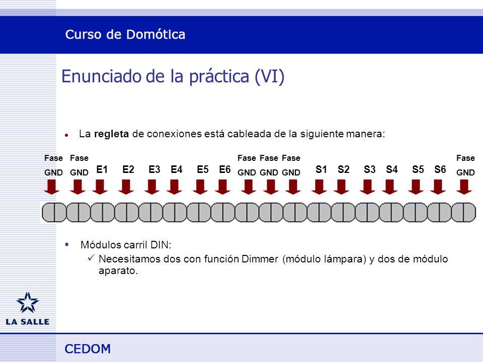 Enunciado de la práctica (VI)