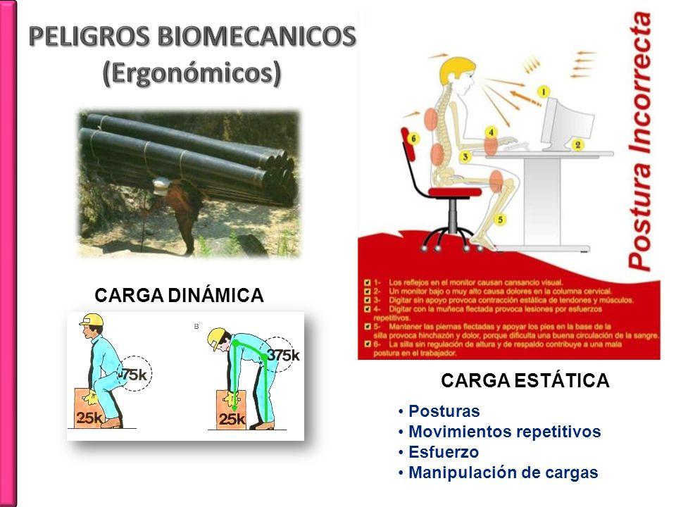 PELIGROS BIOMECANICOS (Ergonómicos)