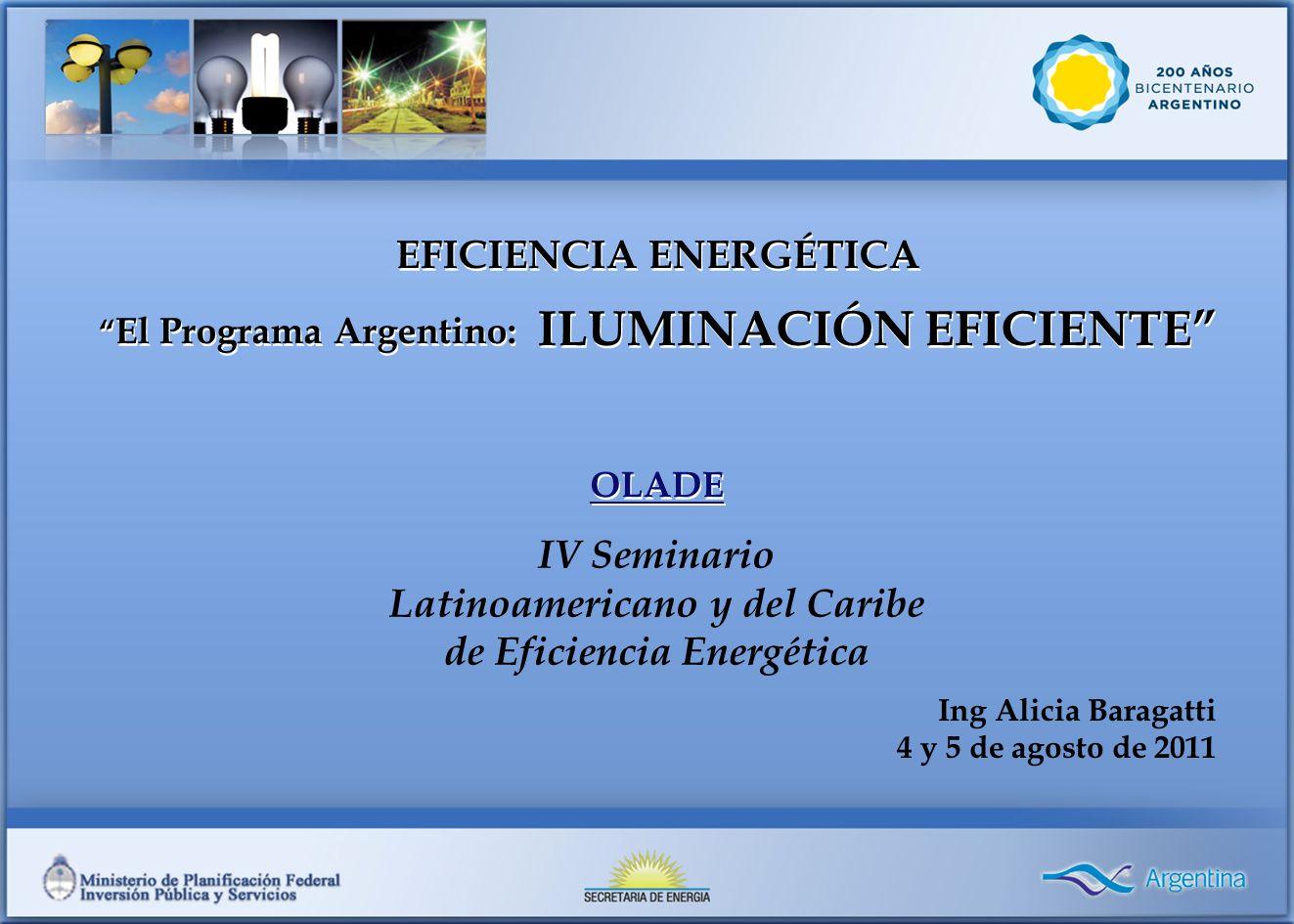 El Programa Argentino: ILUMINACIÓN EFICIENTE
