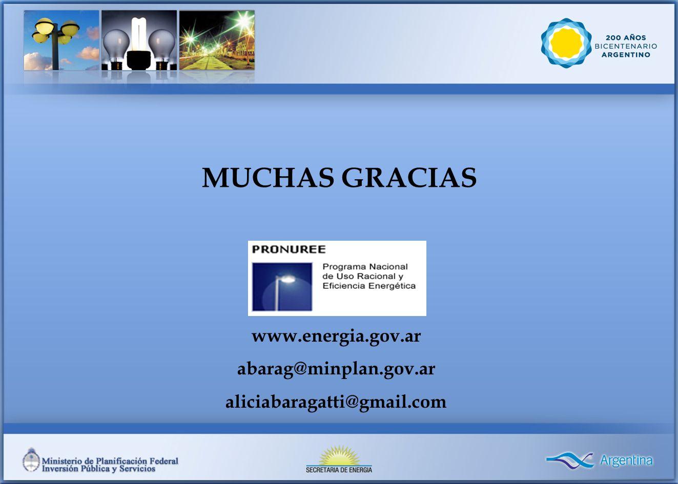 MUCHAS GRACIAS www.energia.gov.ar abarag@minplan.gov.ar
