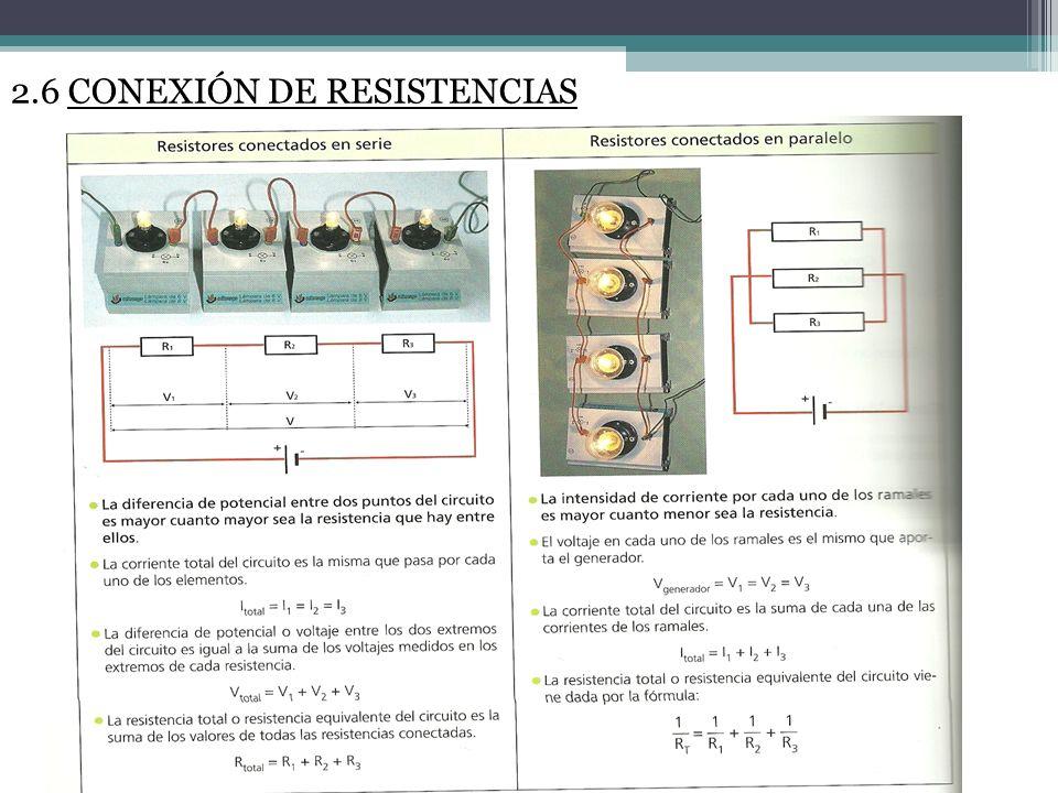 2.6 CONEXIÓN DE RESISTENCIAS