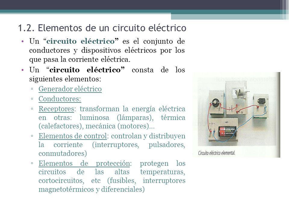 1.2. Elementos de un circuito eléctrico