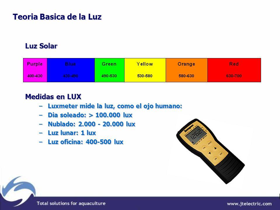 Teoria Basica de la Luz Luz Solar Medidas en LUX