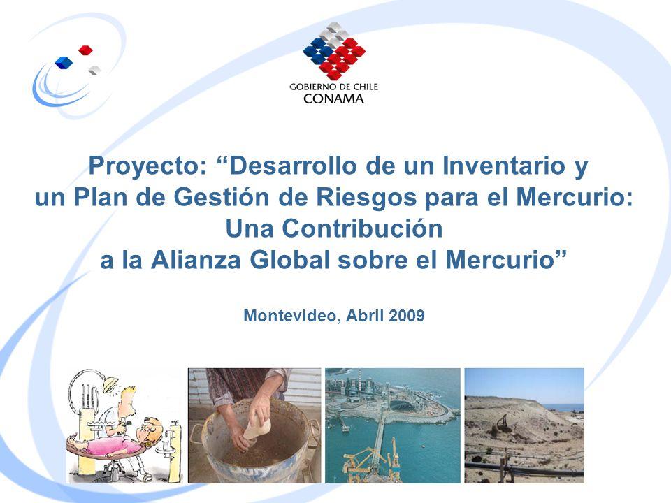 Proyecto: Desarrollo de un Inventario y un Plan de Gestión de Riesgos para el Mercurio: Una Contribución a la Alianza Global sobre el Mercurio Montevideo, Abril 2009
