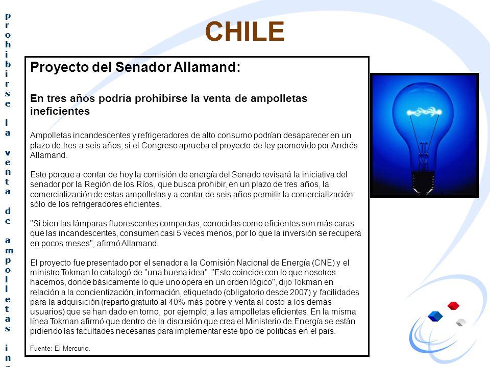 CHILE Proyecto del Senador Allamand: