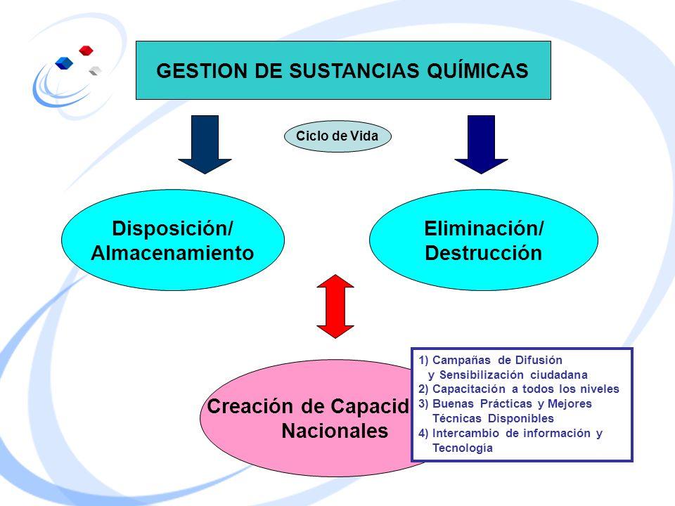 GESTION DE SUSTANCIAS QUÍMICAS Creación de Capacidades
