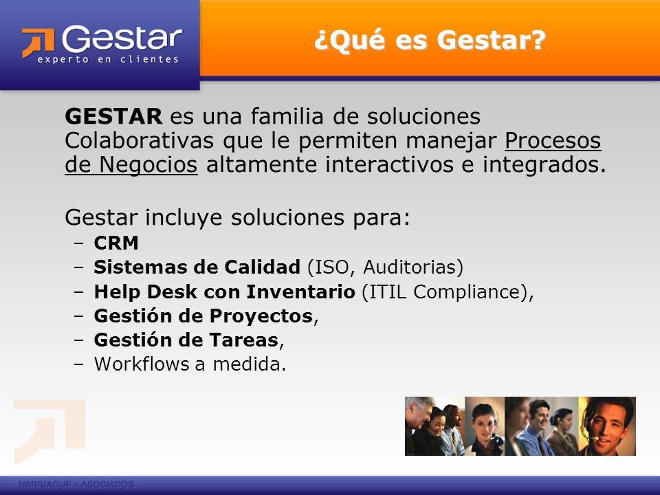 ¿Qué es Gestar GESTAR es una familia de soluciones Colaborativas que le permiten manejar Procesos de Negocios altamente interactivos e integrados.