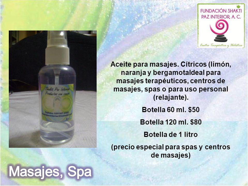 (precio especial para spas y centros de masajes)