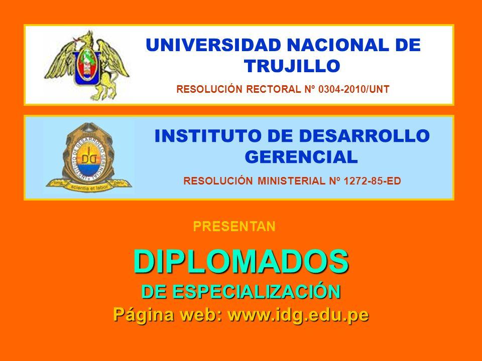 DIPLOMADOS DE ESPECIALIZACIÓN