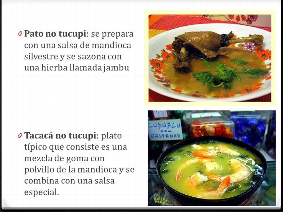 Pato no tucupi: se prepara con una salsa de mandioca silvestre y se sazona con una hierba llamada jambu
