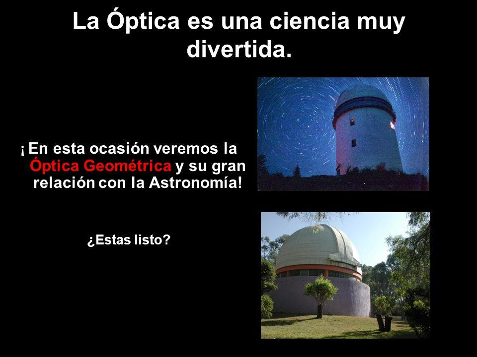 La Óptica es una ciencia muy divertida.