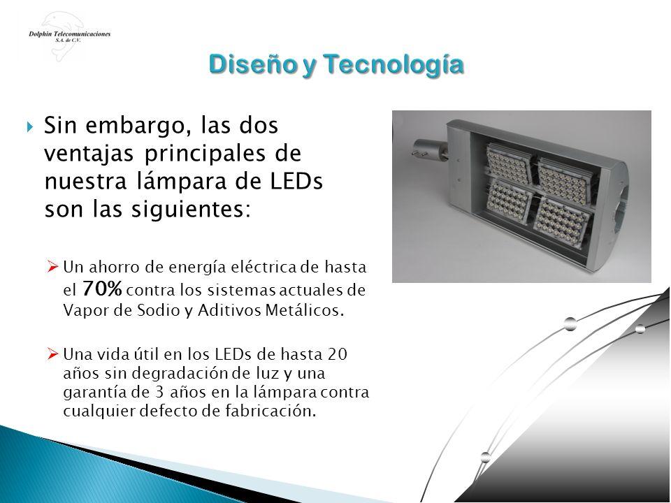 Diseño y Tecnología Sin embargo, las dos ventajas principales de nuestra lámpara de LEDs son las siguientes: