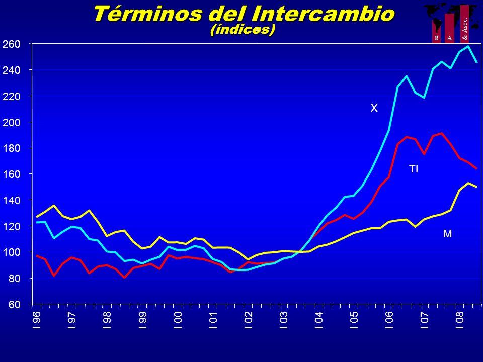 Términos del Intercambio (índices)