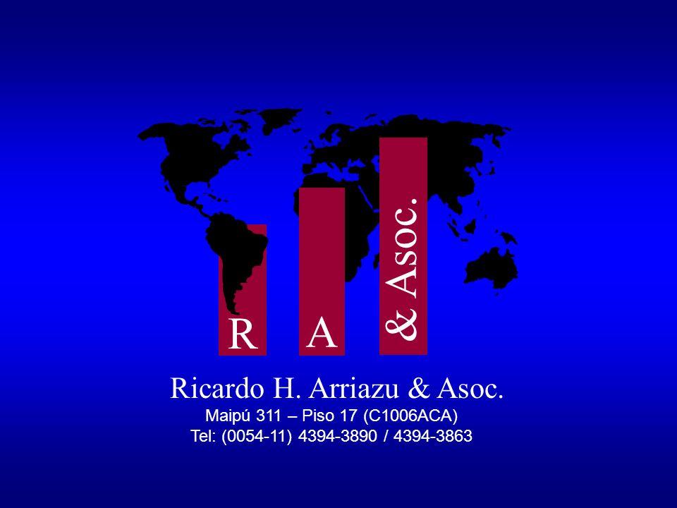 & Asoc. A R Ricardo H. Arriazu & Asoc. Maipú 311 – Piso 17 (C1006ACA)