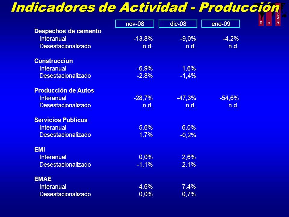 Indicadores de Actividad - Producción